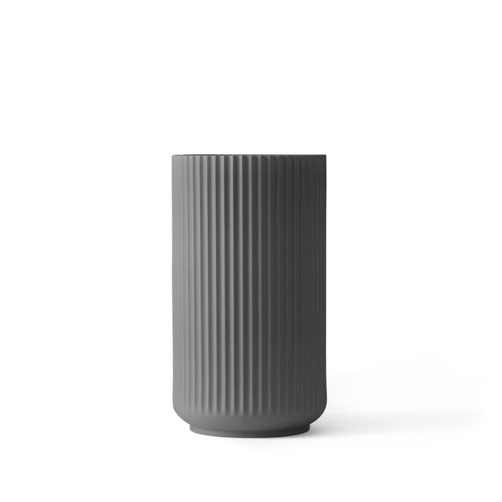Lyngby Porcelæn - Lyngbyvase, dunkelgrau, H 12 cm