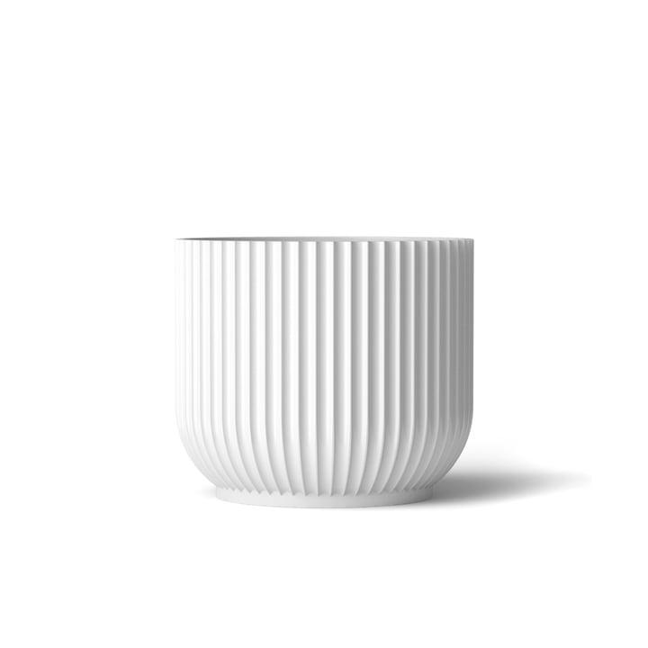 Blumentopf S von Lyngby Porcelæn in Weiß