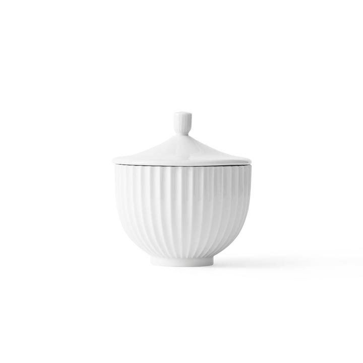 Bonbonniere Porzellan ø 10 cm von Lyngby Porcelæn in Weiß