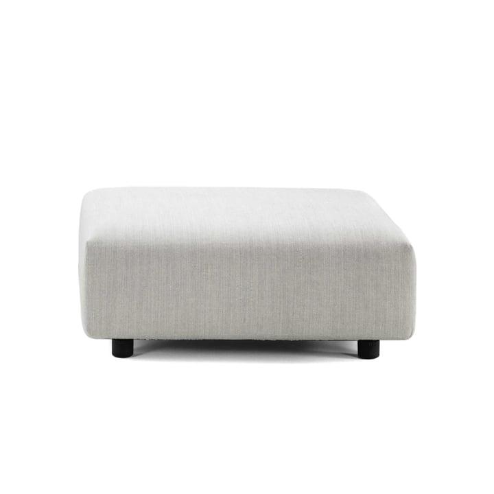 Vitra - Soft Modular Sofa, Ottoman, crème / stahlgrau (Maize 03)