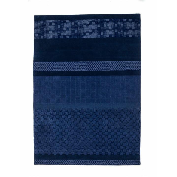 nanimarquina - Jie Teppich 200x300 cm, blau