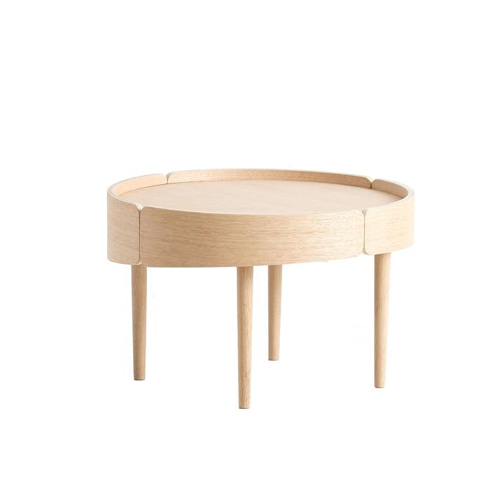 Skirt Coffee Table Ø 60 cm von Woud in Eiche weiß pigmentiert lackiert