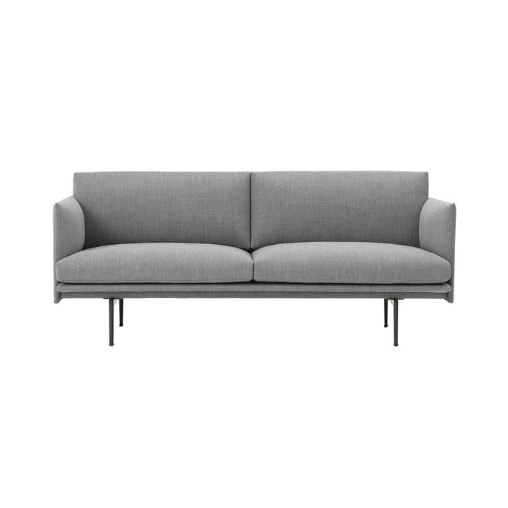 Outline Sofa 2-Sitzer von Muuto in Grau
