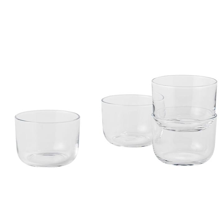 Corky Trinkglas (4er-Set) Low von Muuto in Clear