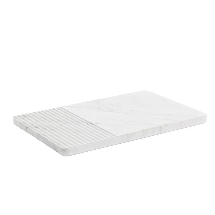 Groove Marmor Servierplatte von Muuto in Weiß