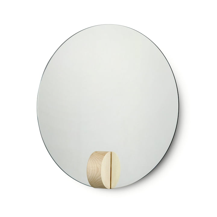Fullmoon Mirror Ø 40 cm von Skagerak aus Eschenholz