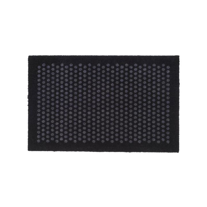 Dot Fußmatte 60 x 90 cm von tica copenhagen in schwarz / grau