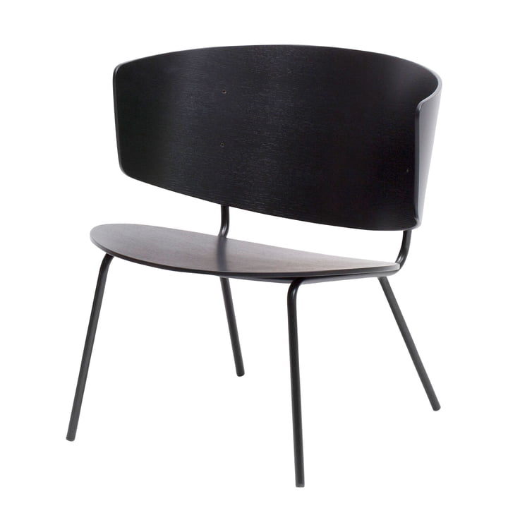 Herman Lounge Chair von ferm Living in Schwarz