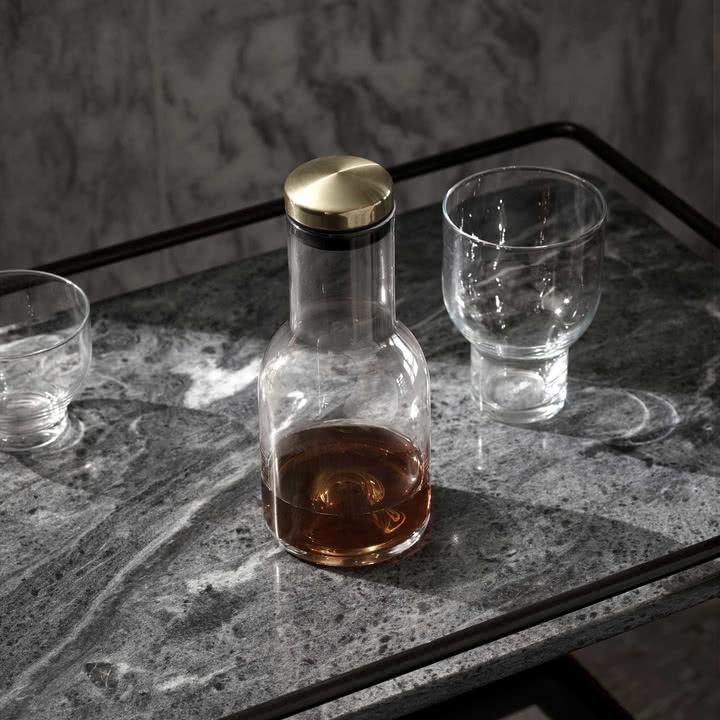 New Norm Wasserflasche mit Messingdeckel von Menu