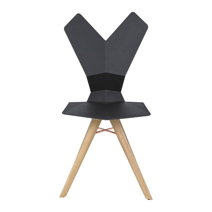 Der Tom Dixon - Y Chair in schwarz / Eiche natur