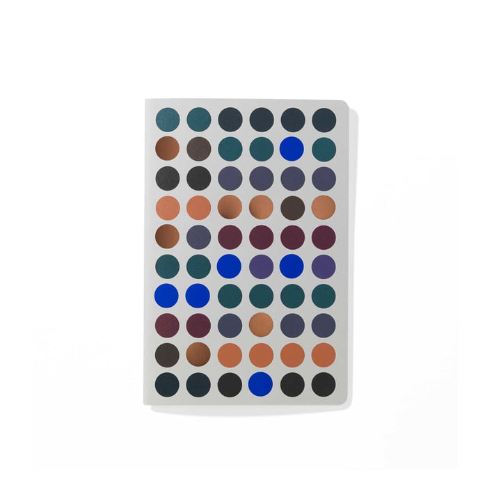 Dot Notebook A6 von Vitra in dunklen Farbtönen