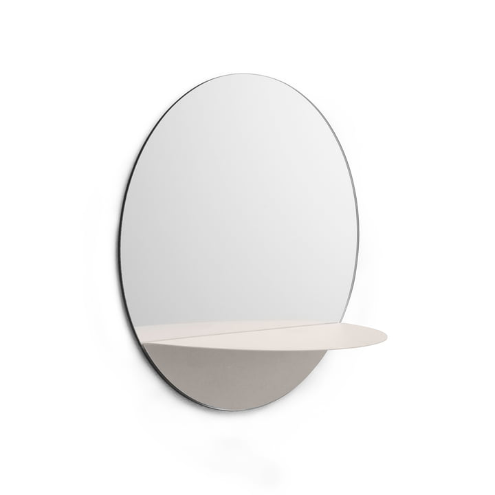 Horizon Spiegel rund von Normann Copenhagen in Weiß