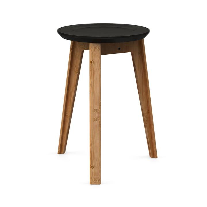 Button Stool von We Do Wood in Schwarz