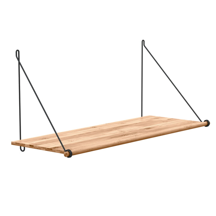 Loop Shelf von We Do Wood aus Bambus und Stahl in Schwarz