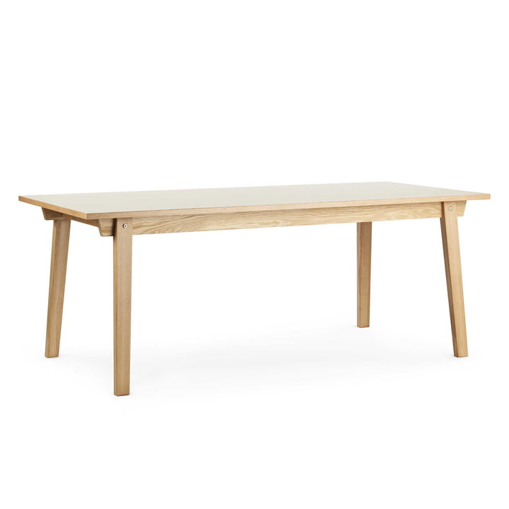 Normann Copenhagen - Slice Table Linoleum 84 x 160 cm, creme