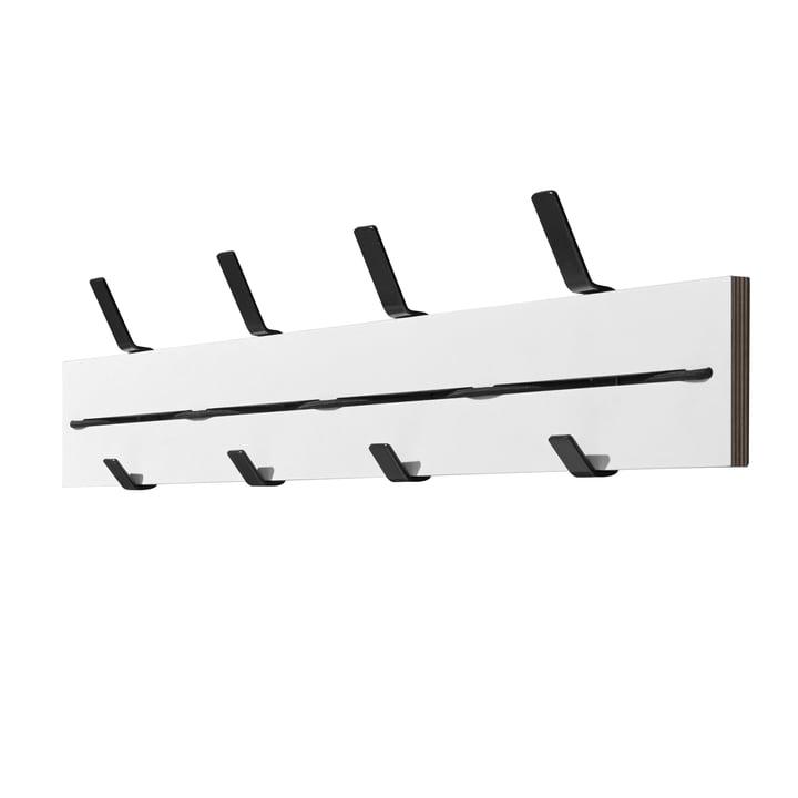 Müller Möbelwerkstätten - Expander Wandgarderobe, weiß / schwarz