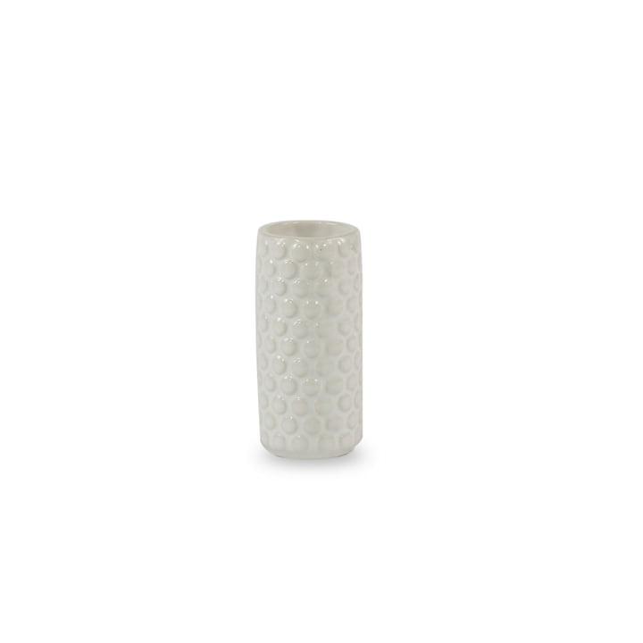 Die Bloomingville - Keramik-Vase, Ø4 x H9 cm in weiß