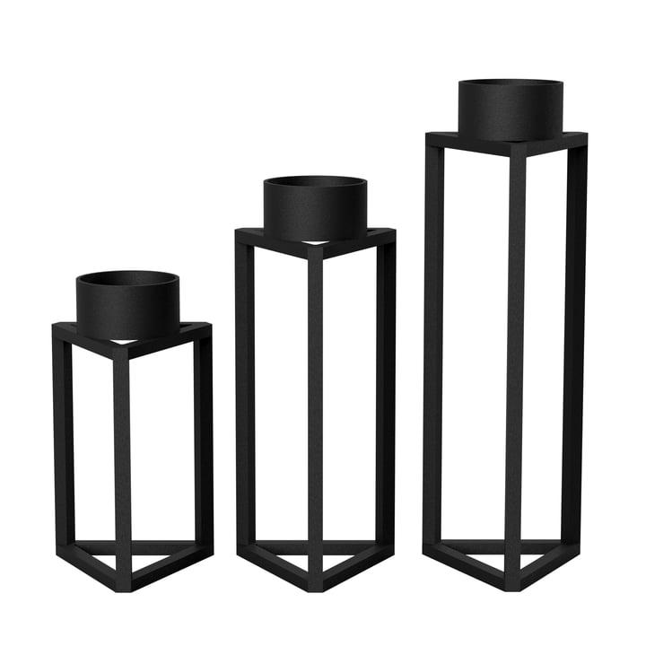 Build my light (3er-Set) von Nichba Design in Schwarz