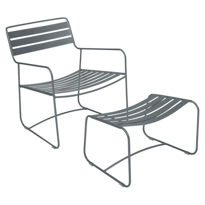 Surprising Lounger Sessel + Fußablage von Fermob in Gewittergrau