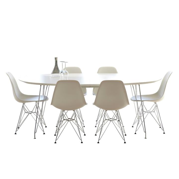 DK10 Esstisch von Andersen Furniture mit Edelstahlgestell