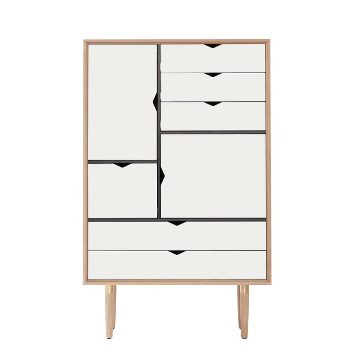 S5 Kommode von Andersen Furniture in Eiche geseift/ Fronten weiß