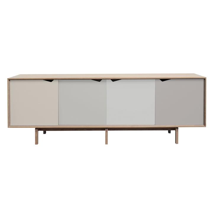S1 Sideboard von Andersen Furniture in Eiche geseift (Türen Doeskin, Iron, Silver, Iron)