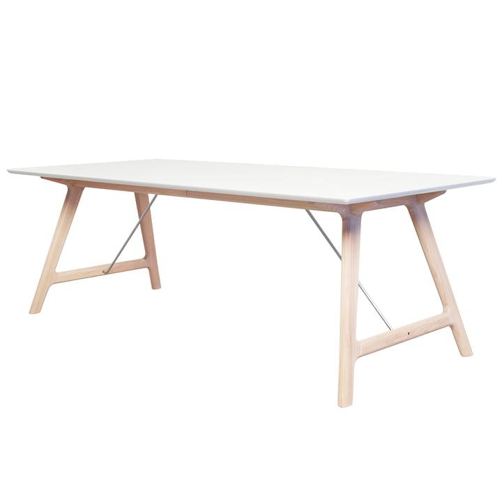 T7 Ausziehtisch 220 cm von Andersen Furniture in Eiche geseift/ weiß