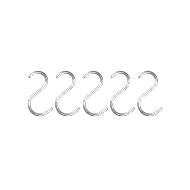 Nomess - S-Hook, mini, alu silber, 5er-Set