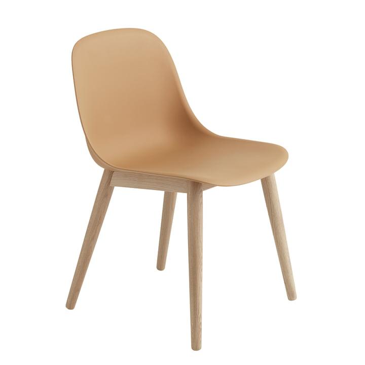 Fiber Side Chair Wood Base von Muuto in Eiche / ocker