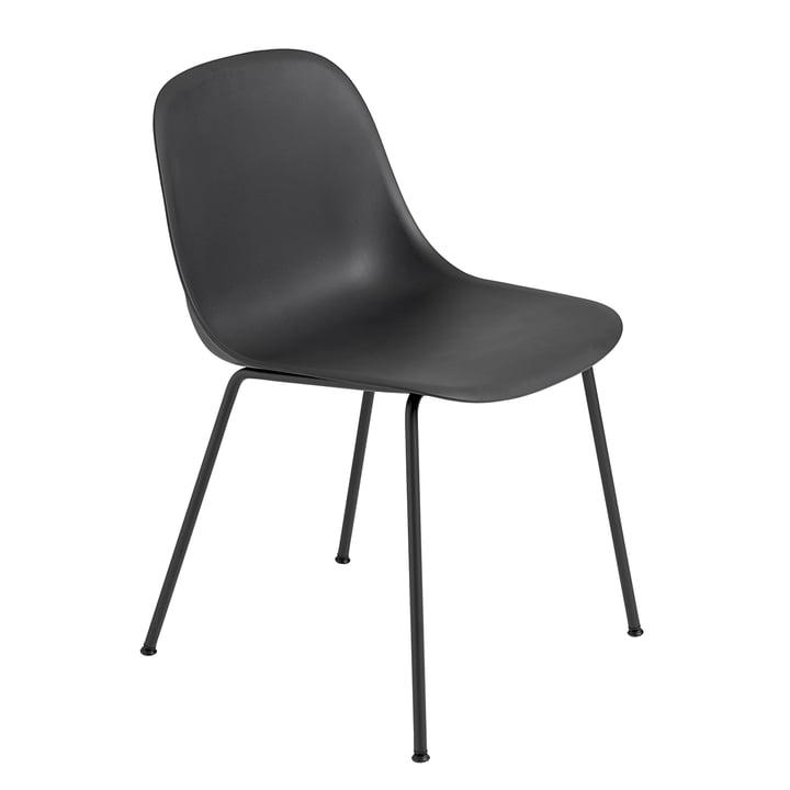 Fiber Side Chair Tube Base von Muuto in schwarz