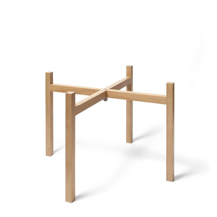 Design House Stockholm - Gestell für Tablo Beistelltisch, Eiche / H 40 cm