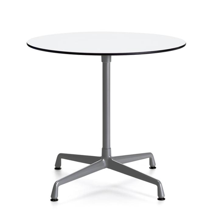 Contract Table Outdoor rund von Vitra in Weiß/ Dunkelgrau