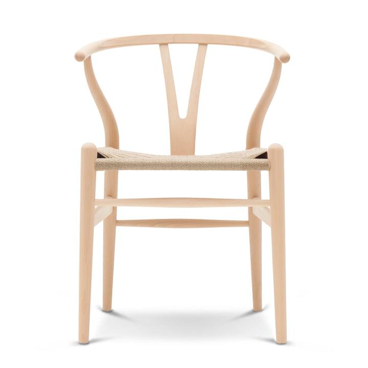 CH24 Wishbone Chair von Carl Hansen in Buche geseift / Naturgeflecht