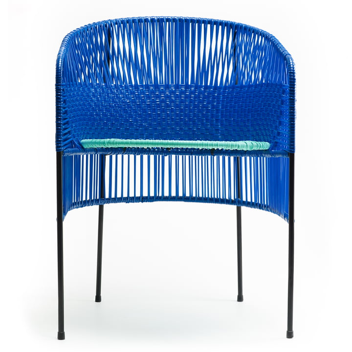 ames - caribe Dining Chair, blau / mint / schwarz