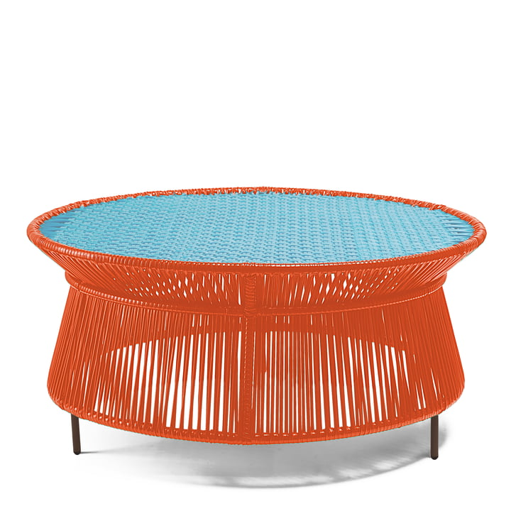 ames - caribe Low Table, orange / türkis / braun
