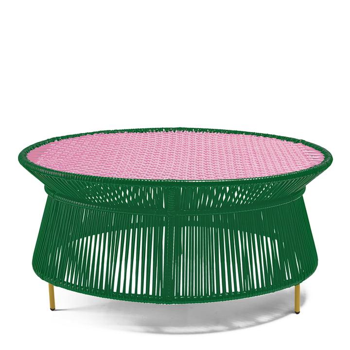 ames - caribe Low Table, grün / rosa / curry