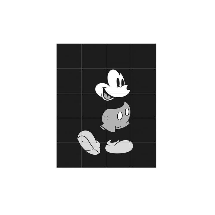 Micky Maus (Schwarz-Weiß) von IXXI in 80 x 100 cm