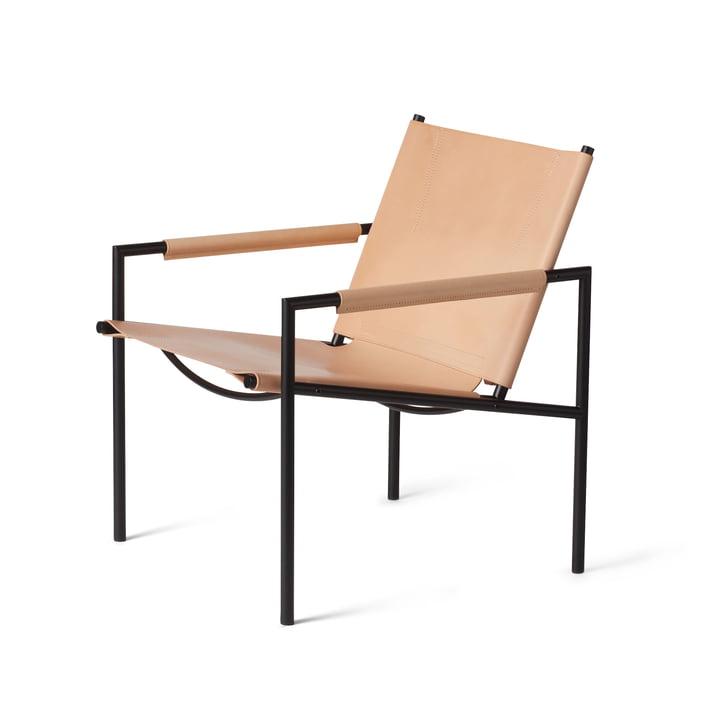 Spectrum - SZ 02 Sessel, schwarz / Kernleder natur