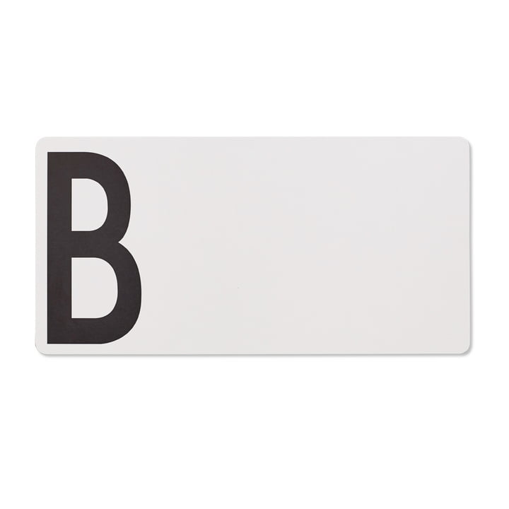 Schneidebrett B (Bread) von Design Letters in Grau
