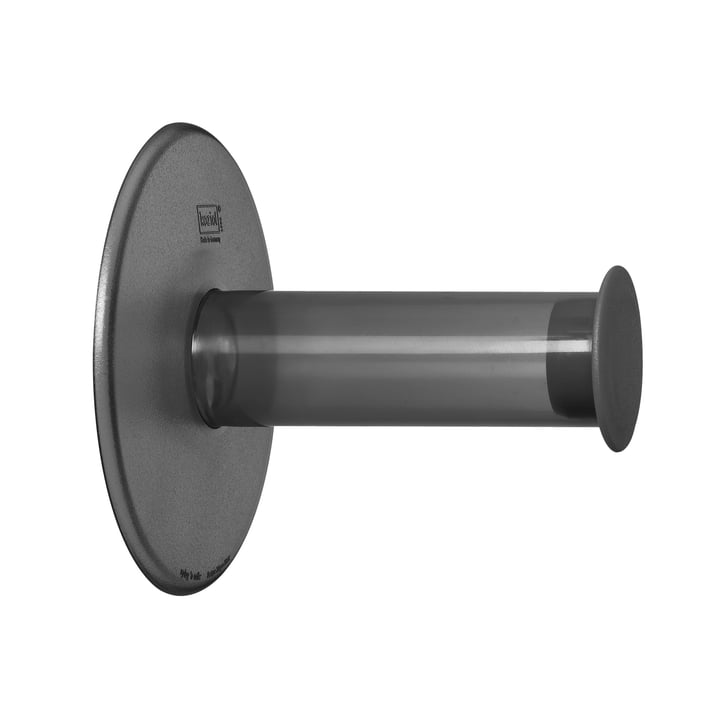 Koziol - Plug'n Roll Toilettenpapierhalter, transparent anthrazit