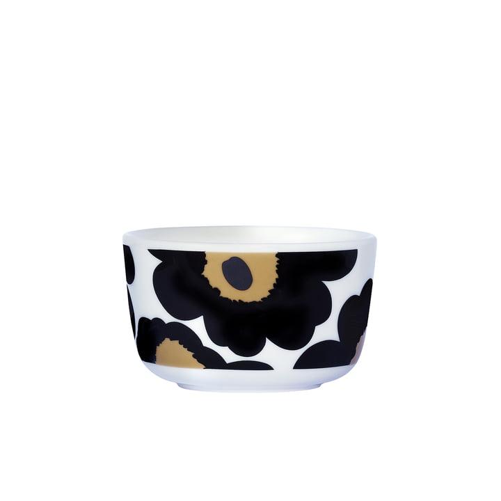 Oiva Unikko Schale 250 ml von Marimekko in Schwarz / Weiß