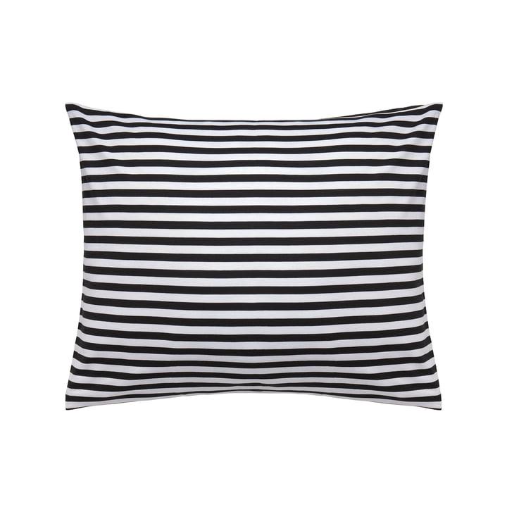 Tasaraita Kopfkissenbezug 50 x 60 cm von Marimekko in Schwarz / Weiß