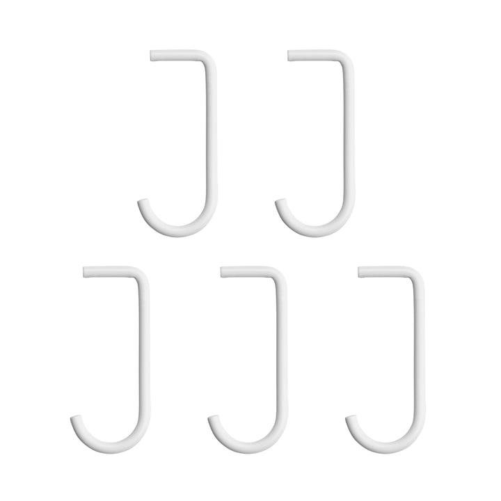 Haken im 5er-Set für Metallboden von String in weiß