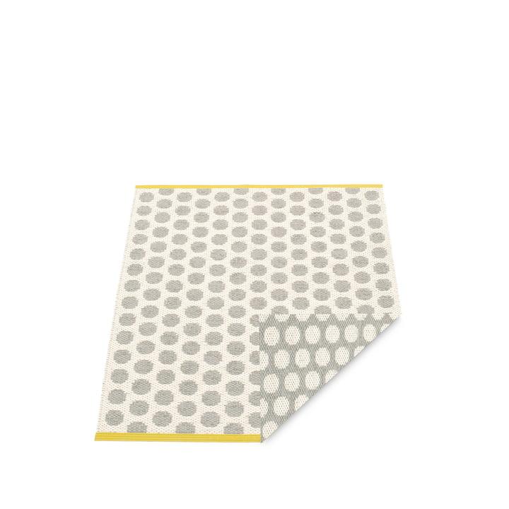 Noa Teppich 70 x 50 cm von Pappelina in Warm Grey / Vanilla / Mustard Edge
