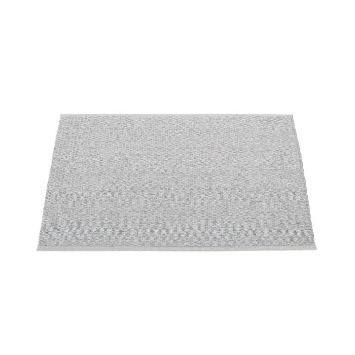 Pappelina - Svea Teppich, 70 x 50 cm, grey metallic / light grey