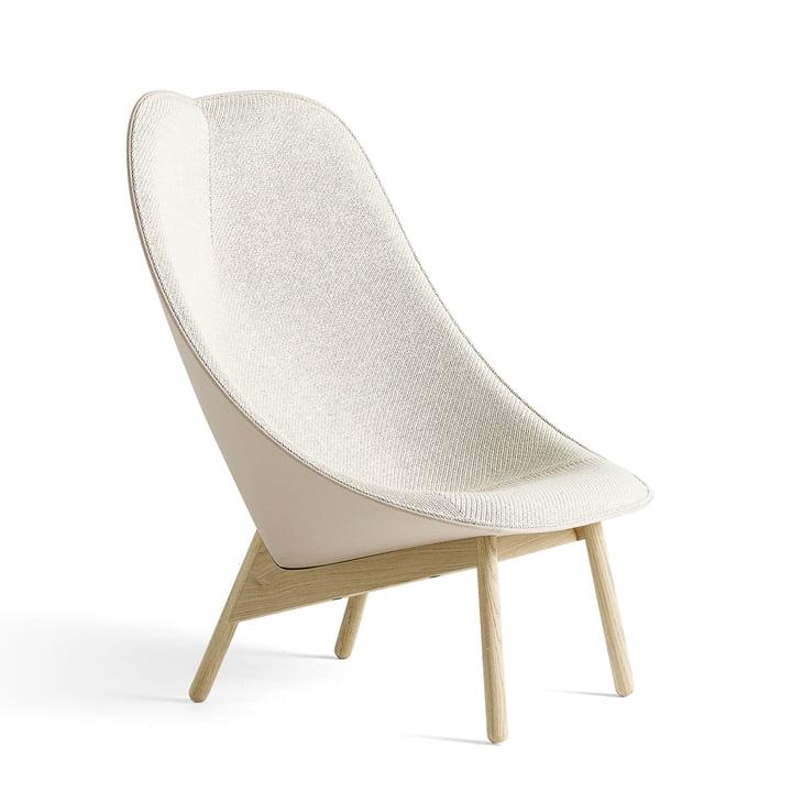 Uchiwa Sessel von Hay in Eiche geseift und Beige
