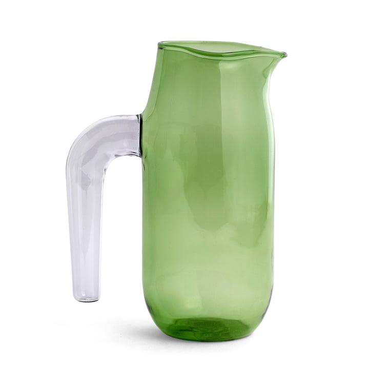 Glaskrug large H 20,5 cm von Hay in Klar und Grün