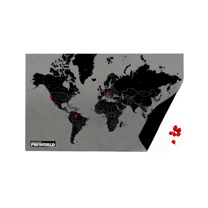 Pin World by Countries black / mini von Palomar