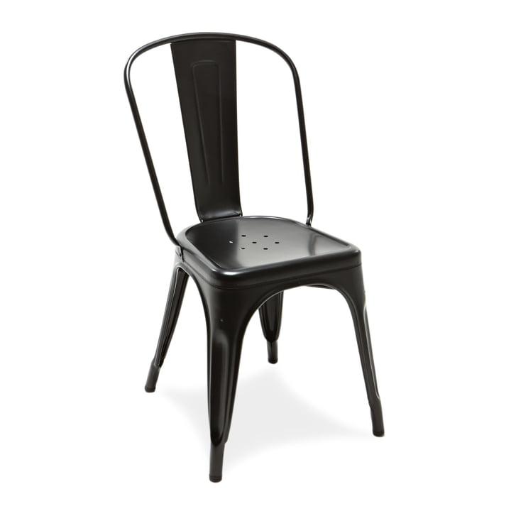 A Chair von Tolix in Schwarz matt für drinnen