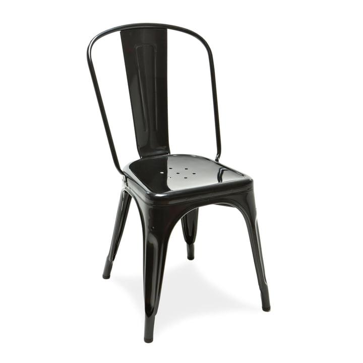 A Chair von Tolix in Schwarz glänzend